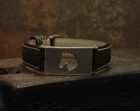 Armband - Pferdekopf - seidenmatt -